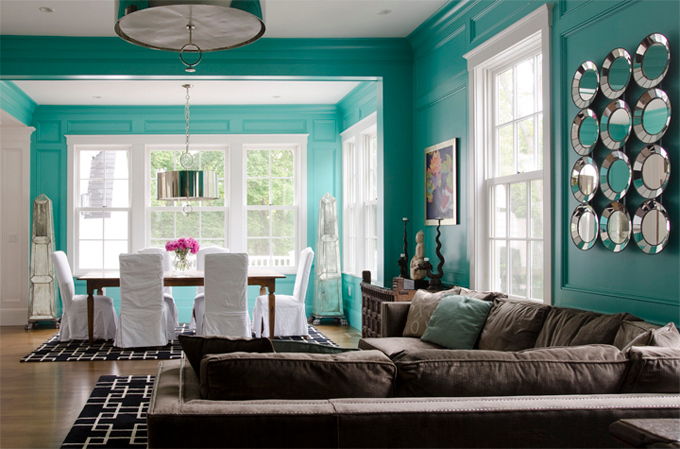 Decor Tiffany Blue And Chocolate Brown Living Room Studio Rooms Judaicabookstore Decorpad