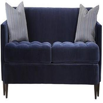 Seating - Hamilton Sofa | Vielle and Frances - navy blue velvet sofa, modern navy sofa, modern navy blue sofa with tufted seat,