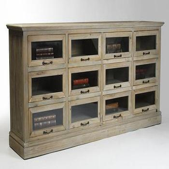 Storage Furniture - Herrington Chest | Vielle and Frances - weathered oak chest, weathered oak glass front cabinet, recycled pine cabinet,