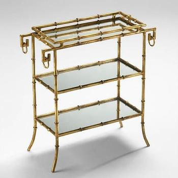 Tables - Bamboo Tray Table   Vielle and Frances - gold bamboo tray table, faux bamboo tray table, gold faux bamboo tray table,