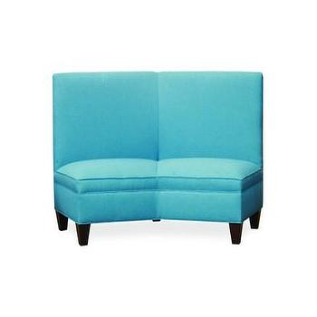 Seating - Parrel Sectional | Vielle and Frances - turquoise loveseat, modern turquoise loveseat, contemporary turquoise loveseat,