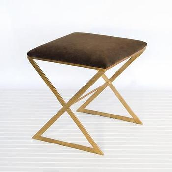Athena Gold And White Side Stool Vielle And Frances