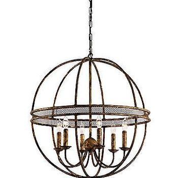Wrought Iron Sphere Chandelier Horchow