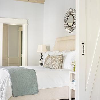 Cream Headboard, Transitional, bedroom, Tillman Long Interiors