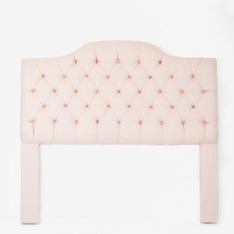 Beds/Headboards - Light Pink Tufted Camelback Headboard I Biscuit Home - light pink camelback tufted headboard, pink tufted headboard, light pink diamond tufted headboard,
