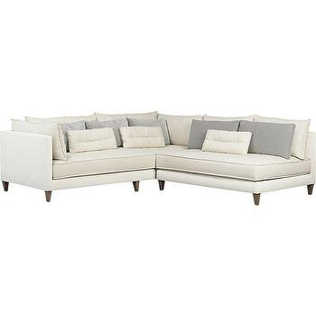 Seating - Asana 2-Piece Sectional Sofa | Crate and Barrel - armless sectional sofa, white armless sectional sofa, modern neutral sectional sofa,