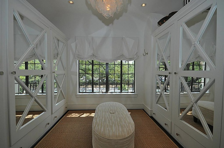 Mirrored Doors Transitional Closet HAR