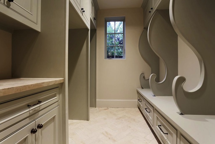 Gray mudroom transitional laundry room har for Furniture 4 less salinas