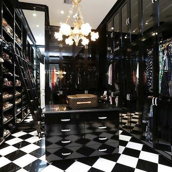 Black and White Closet, Contemporary, closet, HAR