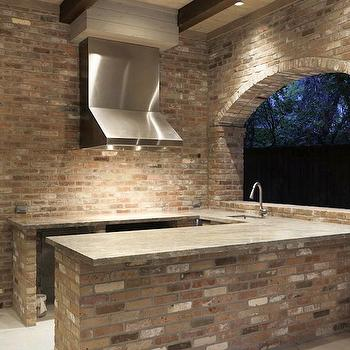 Concrete countertops design decor photos pictures ideas inspiration paint colors and remodel for Outdoor kitchen hood designs