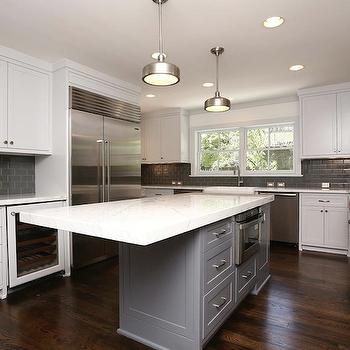 Gray Subway Tiles, Contemporary, kitchen, HAR