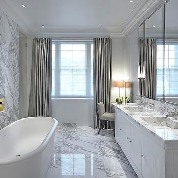 Marble Niche, Contemporary, bathroom, Todhunter Earle Interiors