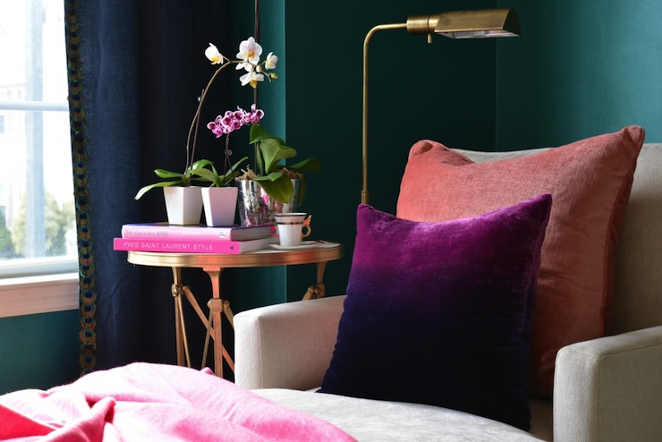 Ombre Pillow Eclectic Bedroom Dalliance Design   Pink And Teal Living Room . Part 21
