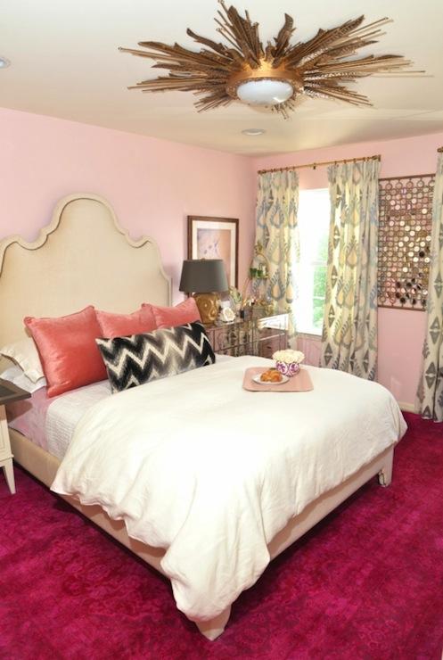 Pink Bedroom Eclectic bedroom Dalliance Design