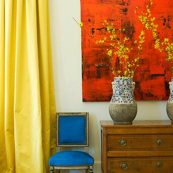 Yellow Silk Curatins, Eclectic, living room, MMR Interiors