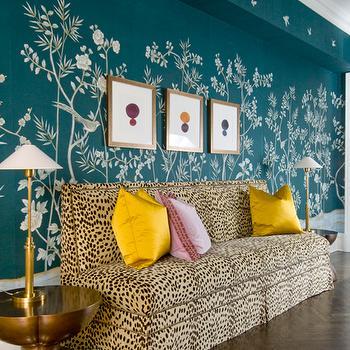 Cheetah Sofa, Eclectic, entrance/foyer, MMR Interiors