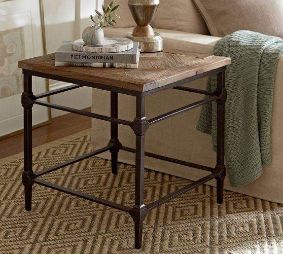 Parquet Side Table Pottery Barn