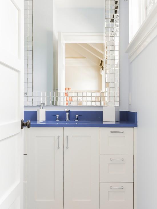 Bathroom With Blue Countertop: Blue Countertops