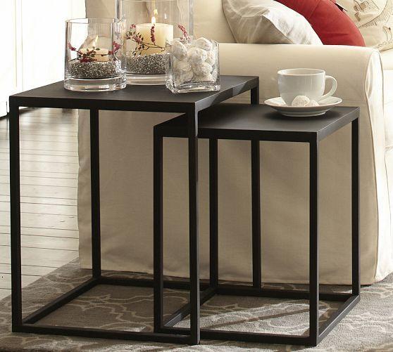 Pottery Barn Nesting Tables: Burke Nesting Side Table