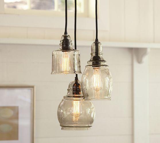Paxton Glass 3-Light Pendant - Pottery Barn