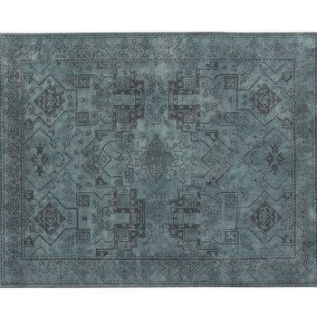 Rugs - Kent Persian-Style Rug | Pottery Barn - blue persian rug, blue persian-style rug, blue dyed persian rug,