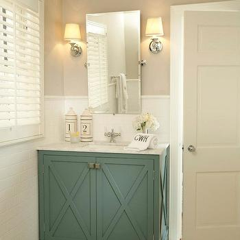green cabinets mediterranean bathroom coddington design