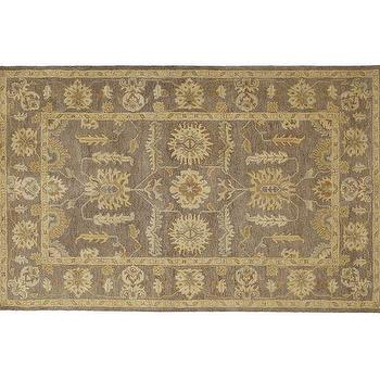 Rugs - Hastings Persian-Style Rug | Pottery Barn - gray persian rug, gray persian style rug, traditional style gray rug,
