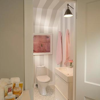 Striped Bathroom Eclectic Bathroom Lonny Magazine
