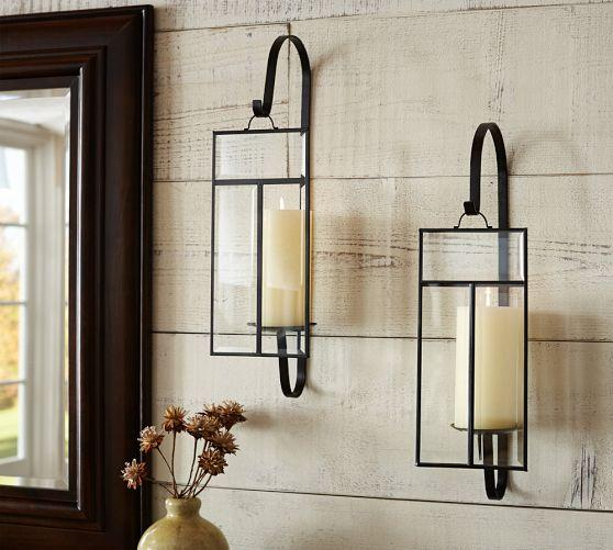 Pottery Barn Wall Sconces For Candles : Candle Sconces Glass Home Decoration Club