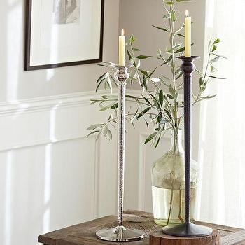 Waverly Taper Candle Holders, Pottery Barn