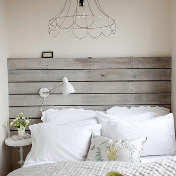 Wood Plank Headboard Cottage Bedroom The Cross Decor
