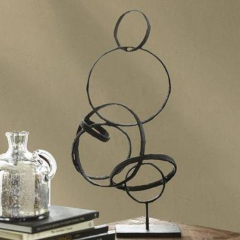 Decor/Accessories - Sculpted Circles Stand | Pottery Barn - iron circle sculpture, interlocking iron circle sculpture, sculpted iron circle sculpture,