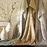 Decor/Accessories - Faux Mohair Ombre Throw | Pottery Barn - ombre faux mohair throw, ombre throw, faux mohair throw, taupe faux mohair ombre throw, gray faux mohair ombre throw, gold faux mohair ombre throw,
