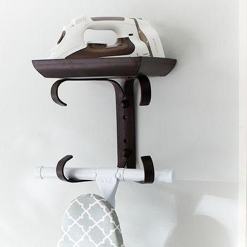 Decor/Accessories - Ironing Board Hanger | Pottery Barn - iron ironing board hanger, metal ironing board hanger, industrial style ironing board hanger,