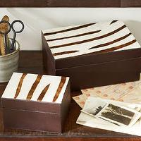 Decor/Accessories - Zebra Storage Boxes | Pottery Barn - zebra print box, zebra print storage box, zebra print decor,