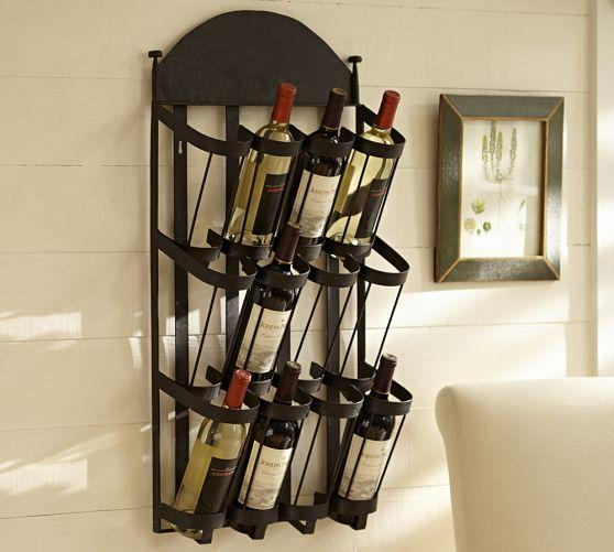 Vintners Wall Mount Wine Rack Pottery Barn