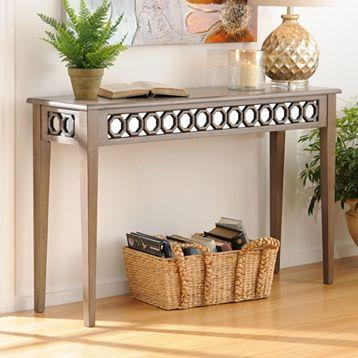 Mirrored octagon console table kirkland 39 s for Sofa table kirklands