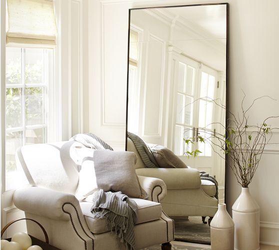Oversized Leaning Floor Mirror Pottery Barn