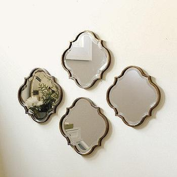 Mirrors - Crest Mirror | Ballard Designs - quatrefoil mirror, copper quatrefoil mirror, quatrefoil shaped mirror,