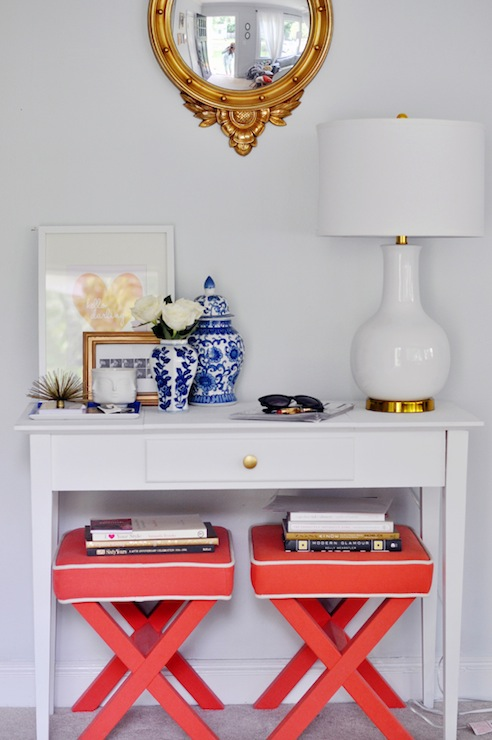 Coral X Ottoman Transitional Entrance Foyer Style
