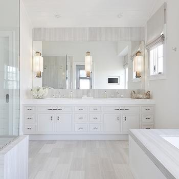 White And Grey Bathroom Transitional Frazee