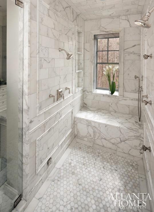 Bathroom Ideas Calcutta Marble : Calcutta gold marble shower transitional bathroom