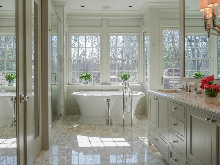 Light Taupe Cabinets Transitional Bathroom Pritchett
