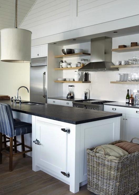 kitchen island fridge cottage kitchen heiberg