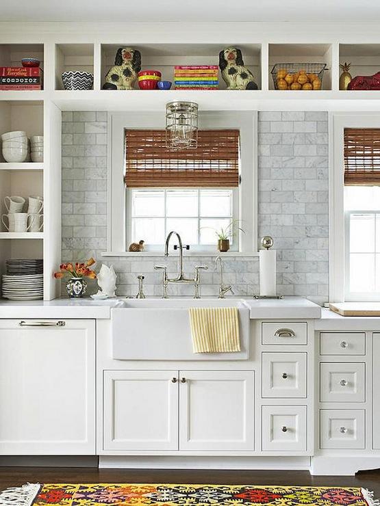 Cabinets over Kitchen Sink Transitional kitchen HGTV