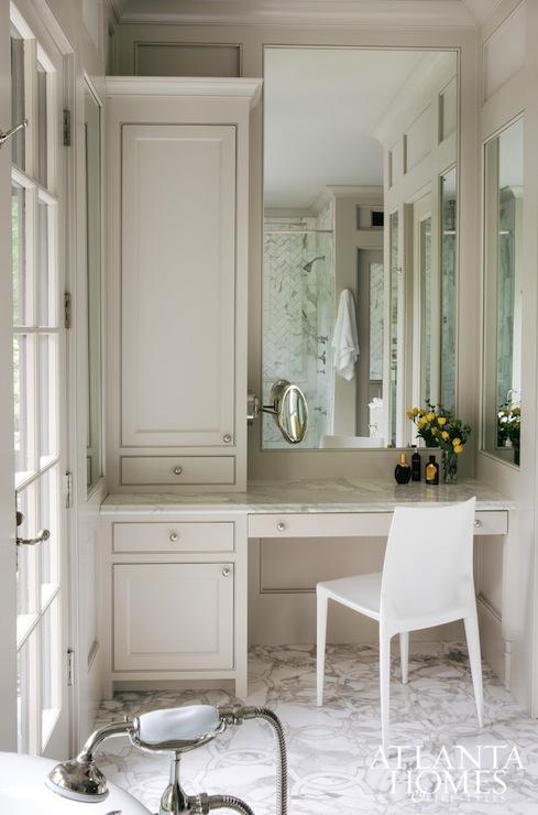 Light Taupe Vanity Transitional Bathroom Atlanta