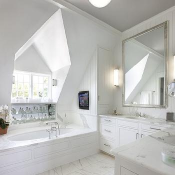 L shaped vanity design decor photos pictures ideas for Bathroom dormer design