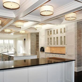 Kitchen Coffered Ceiling, Transitional, kitchen, Michael Davis Design