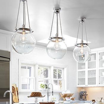 Glass Globe Pendants, Transitional, kitchen, Rejuventation