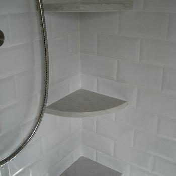 Shower Shelves, Transitional, bathroom, Involving Color